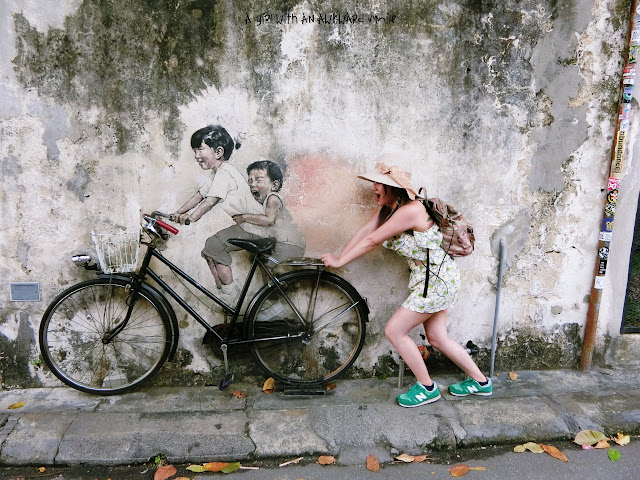 Little Children on a Bicycle Mural @Armenian Street