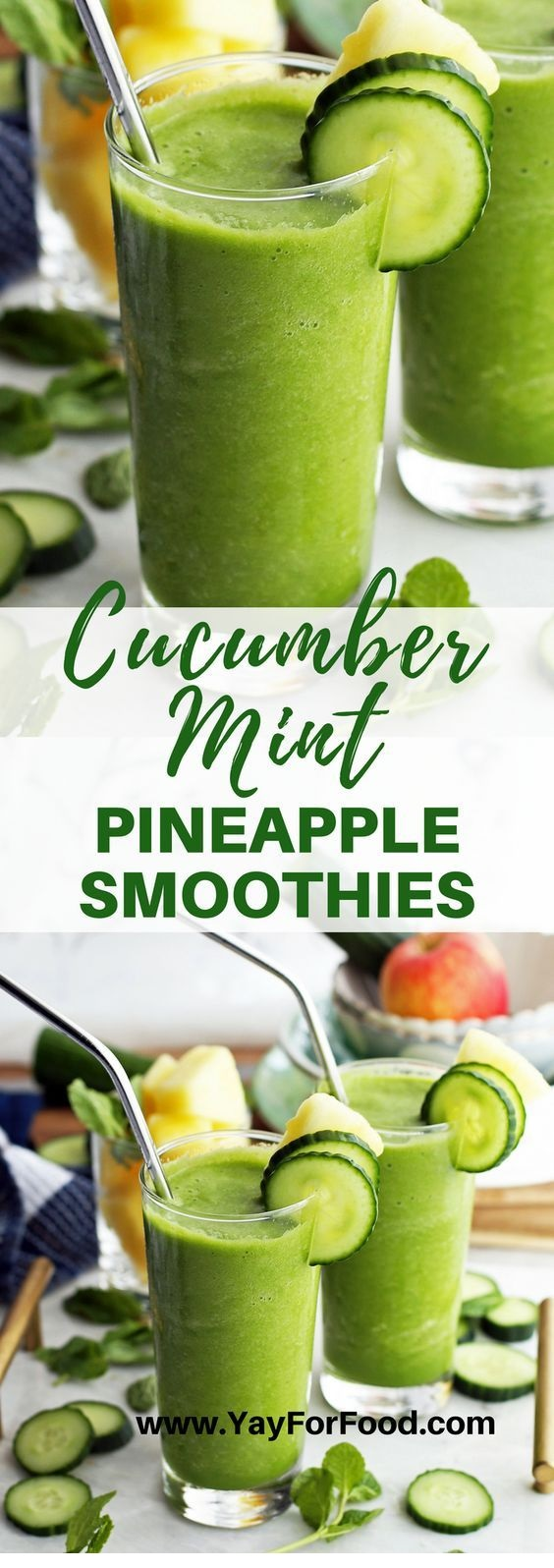 Cucumber Mint Pineapple Smoothie