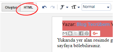 Blogger post HTML
