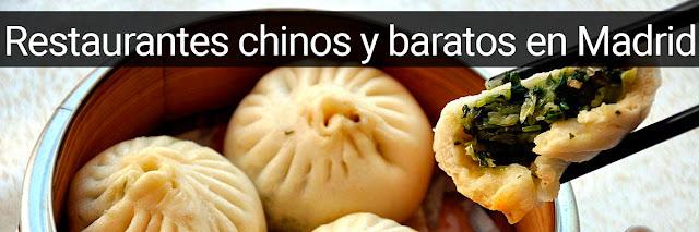 restaurantes chinos baratos en Madrid