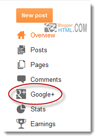 Google plus menu
