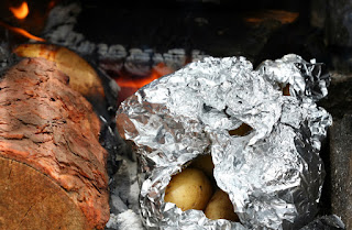 grilled onions and potatoes in foil recipe