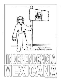 Dibujos de la independencia de México colorear hidalgo