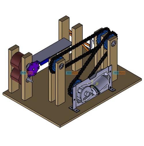Paper Cutting Machine Using Geneva Mechanism