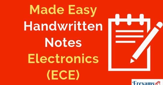 Made Easy Handwritten Notes for Electronics (ECE) Branch Pdf