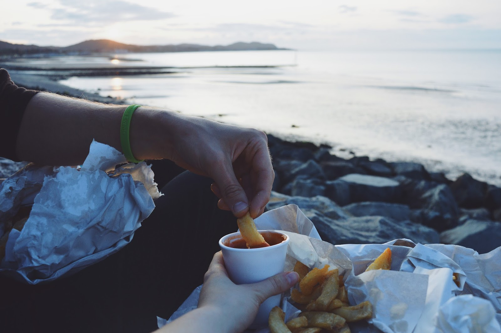 chips by the sea