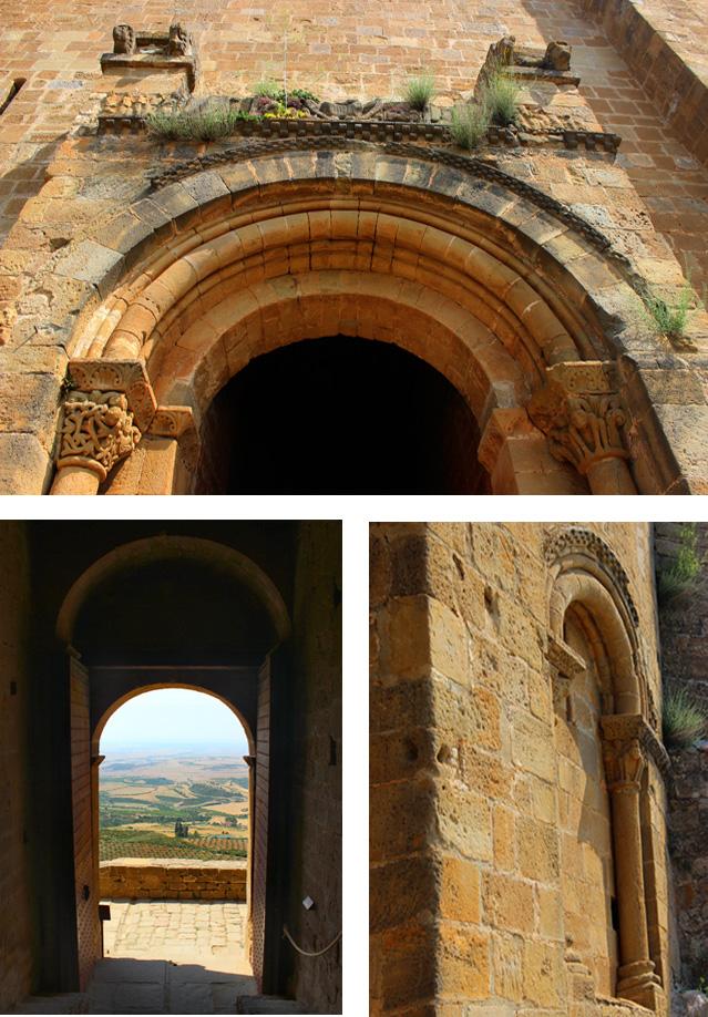 El castillo de Loarre tiene una única puerta de acceso