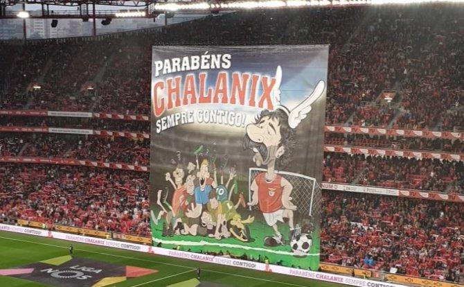 Benfica homenagem a Fernando Chalana