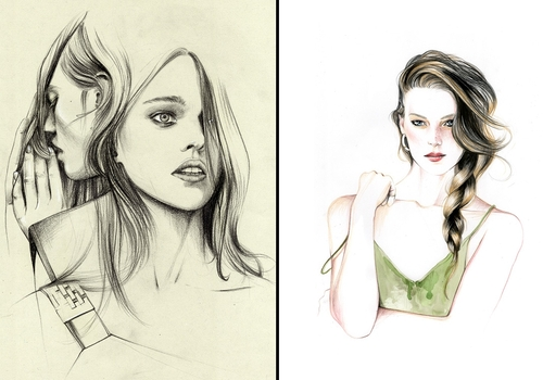 00-Caroline-Andrieu-Fashion-Shows-Distilled-into-Drawing-Portraits-www-designstack-co