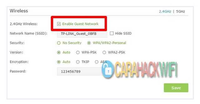 Matikan Fitur Network Guest Pada Router