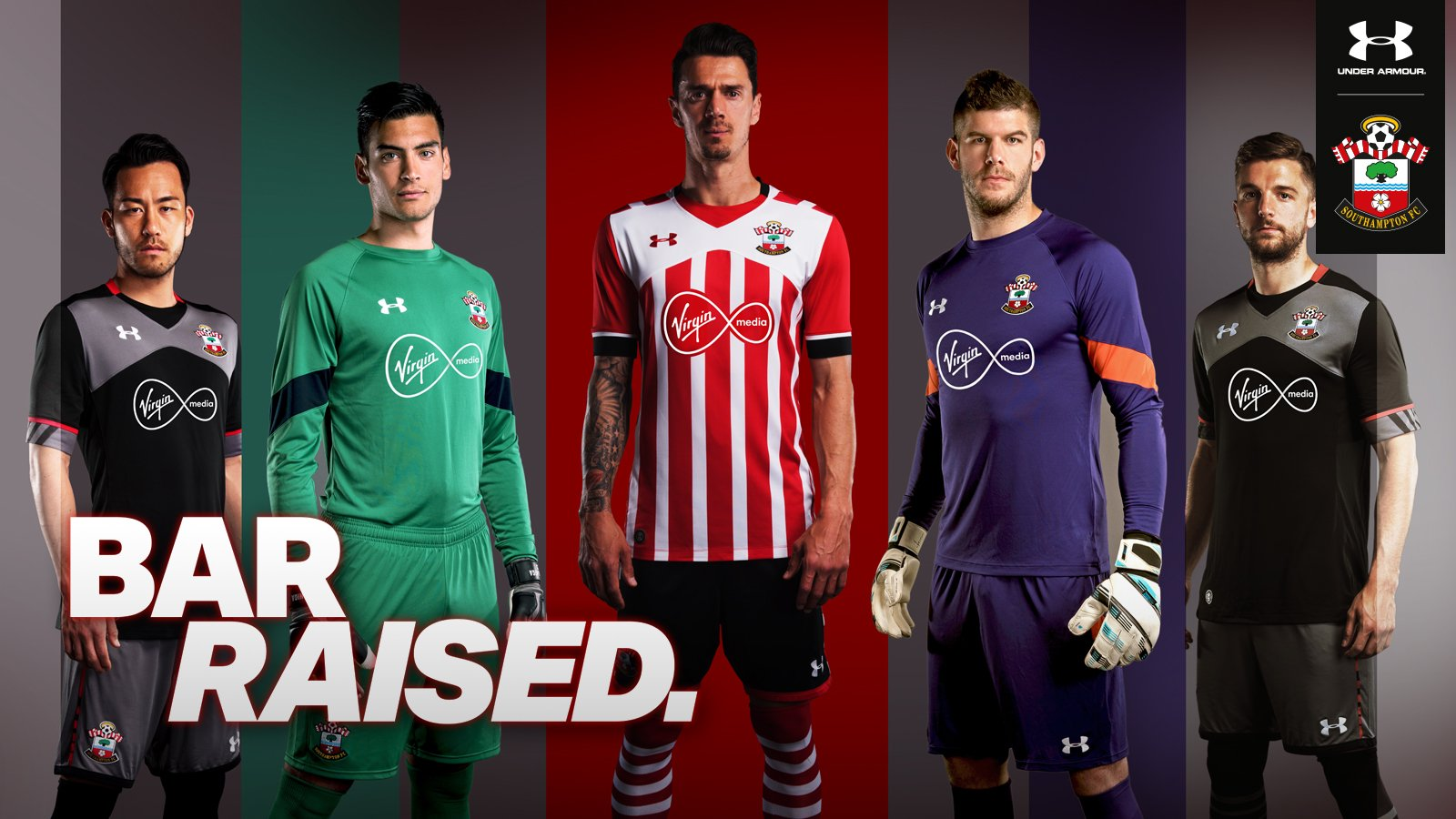 under armour southampton 16 17 kits released footy headlines. Black Bedroom Furniture Sets. Home Design Ideas