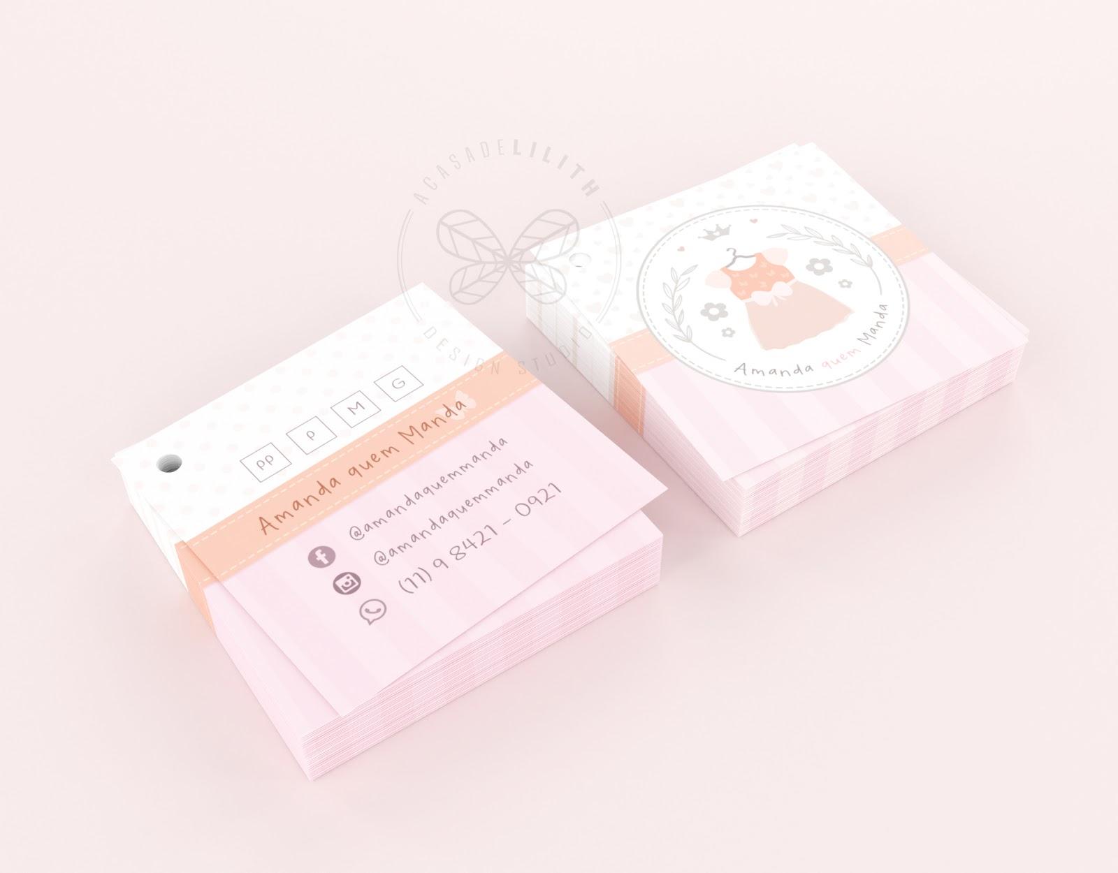 Tags para Loja de Roupas Infantis - Criação de Logotipo e Tags