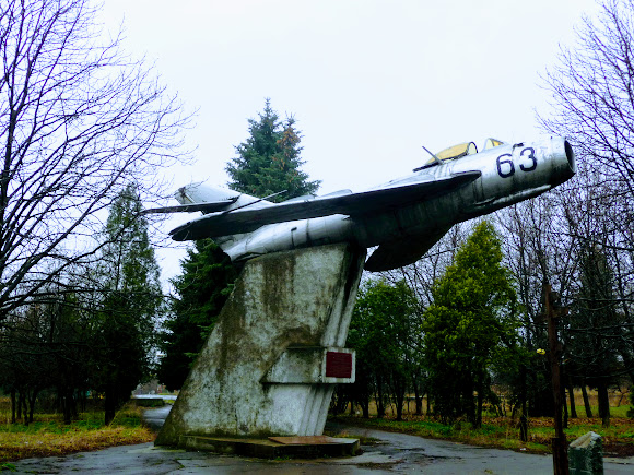 Селидово. Самолёт-памятник МиГ-17