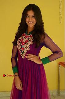 Actress Pooja Jhaveri Latest Stills in Purple Salwar Kameezt at Dwaraka Success Meet  0064.JPG
