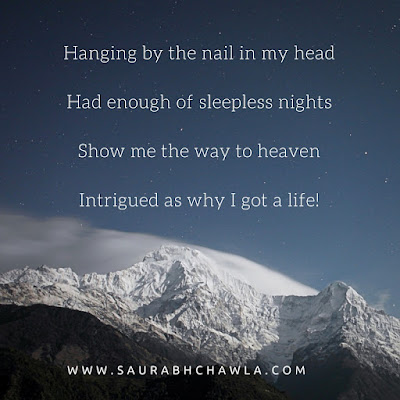 intrigued by the life I got poem by saurabh chawla
