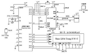 Digital Thermometer 0 100 0°Celsius | Wiring Diagram circuit on