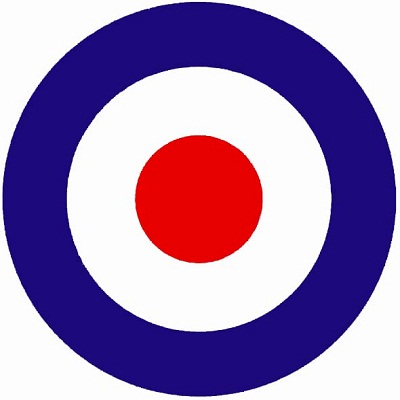 colours of the french target were reversed and the mod target was born