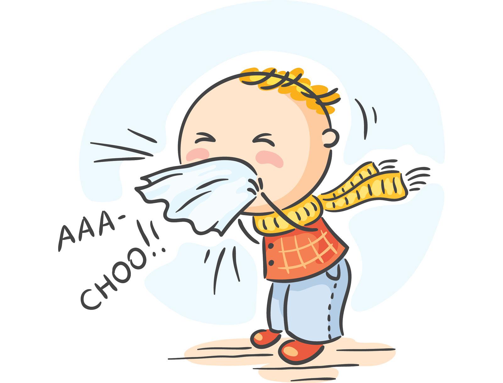 Gambar Kartun Lucu Sakit Flu