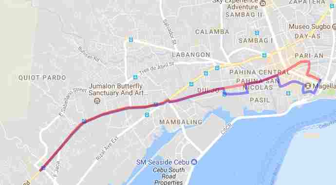 Ride a Jeepney in Cebu and its Travel Routes Code 10g Destination Pardo Magallanes Street Basilica del Sto. Nino Map Best of Philippines 2018