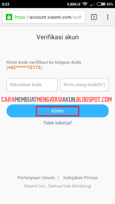 reset password xiaomi