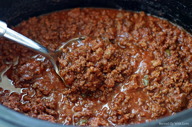 Easy Crock Pot Sloppy Joes recipe from Served Up With Love
