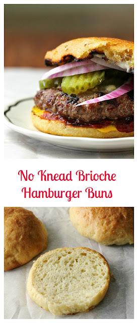 No Knead Brioche Hamburger Buns