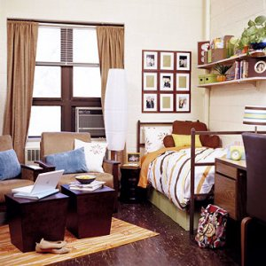 Dorm room furniture adds unique style and function to your living space at school. Discover comfortable futons as well as useful organizational furniture that can help you make the most efficient use of a small dorm room. Arrange your dorm furniture so that you can take advantage of odd corners in old buildings or help get as much distance from a roommate as possible.