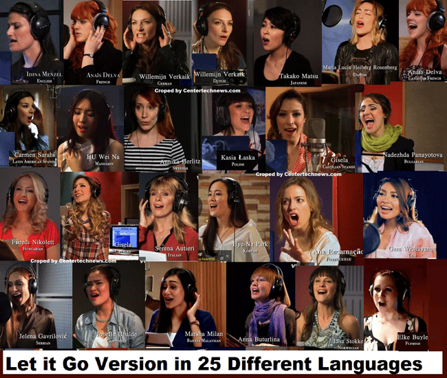 Let it Go Version in 25 Different Languages