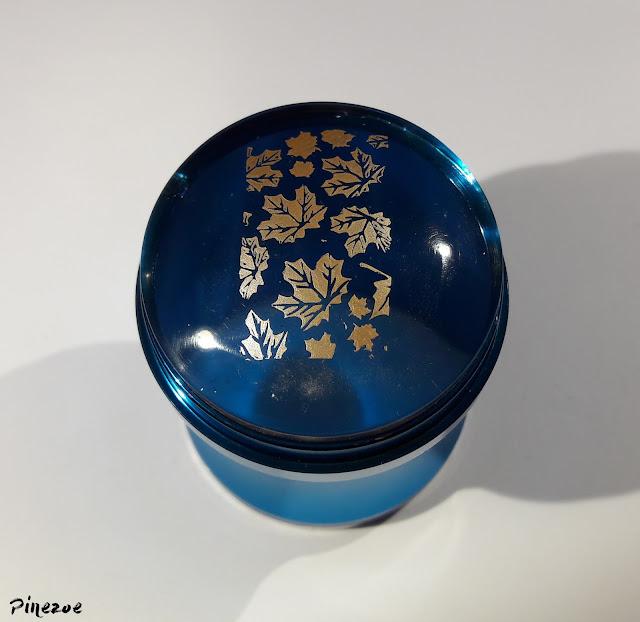 Blue metallic clear jelly stamper et BPL024