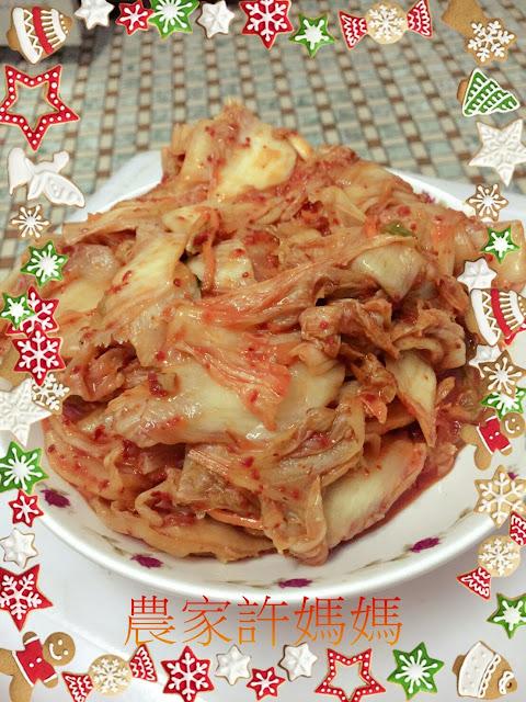 好吃的亂七八糟韓式泡菜年糕-農家許媽媽韓國泡菜