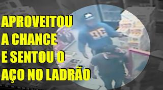 [VÍDEO] POLICIAL LIGEIRO SENTOU O AÇO NO LADRÃO