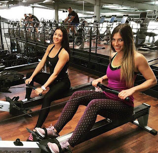 umitti's girlfriend Alexandra Dulauroy at GYM