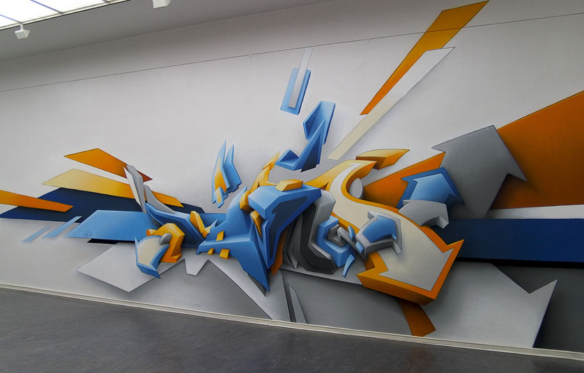 Amazing 3D Graffiti Arrows Effect In Wall Room