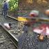 IMAGENS FORTES: Estuprador é colocado em trilho e partido ao meio por trem de carga em São Paulo