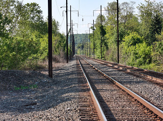 Railroad tracks, Blue Rock Road