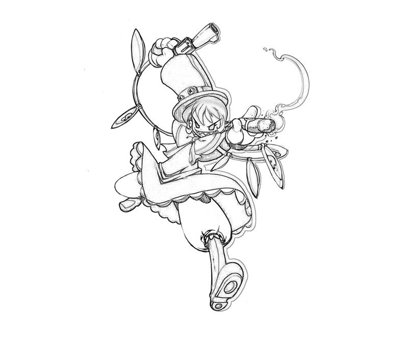 Skull girls characters coloring pages ~ Skullgirls Peacock Weapon | Mario