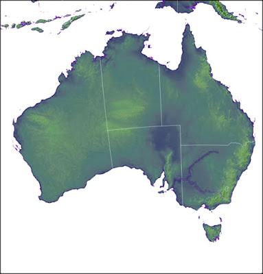 Map of Australia Physical