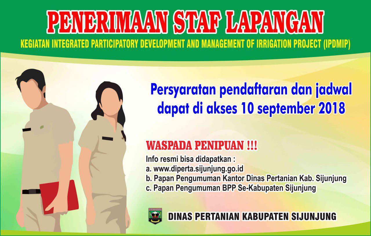 Lowongan Dinas Pertanian Kabupaten Sijunjung September 2018 Padang