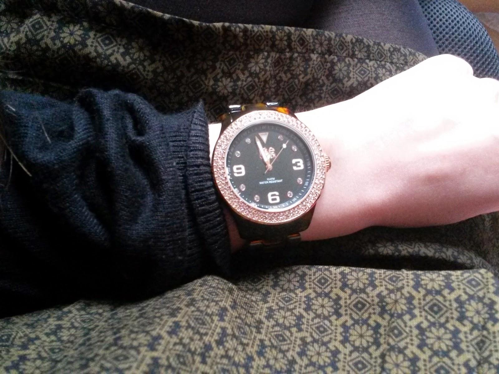 Cadeaux de Noël Ice watch elegant tortoise pink swarowski
