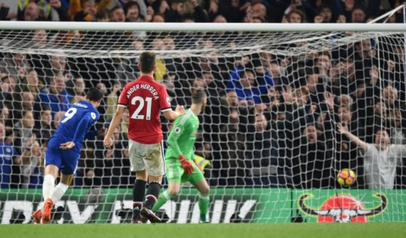 Alvaro Morata's superb header gave Chelsea a much-needed victory over Manchester United before the international break