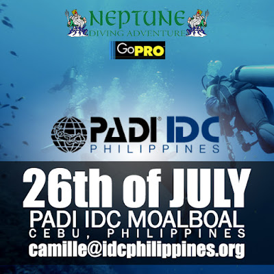 Next PADI IDC in Moalboal, Philippines starts on 26th July 2017