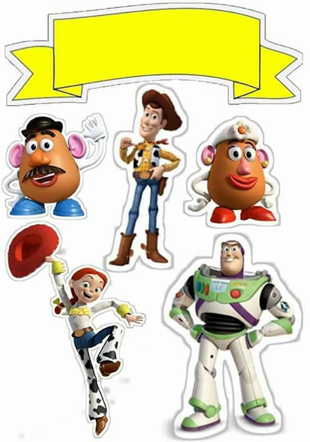 Toy Story: Free Printable Cake Toppers.