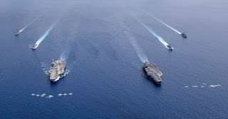 Latihan Militer Kapal Angkatan Laut Amerika Serikat