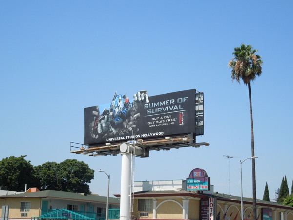 Transformers Summer Survival Universal Studios extension billboard