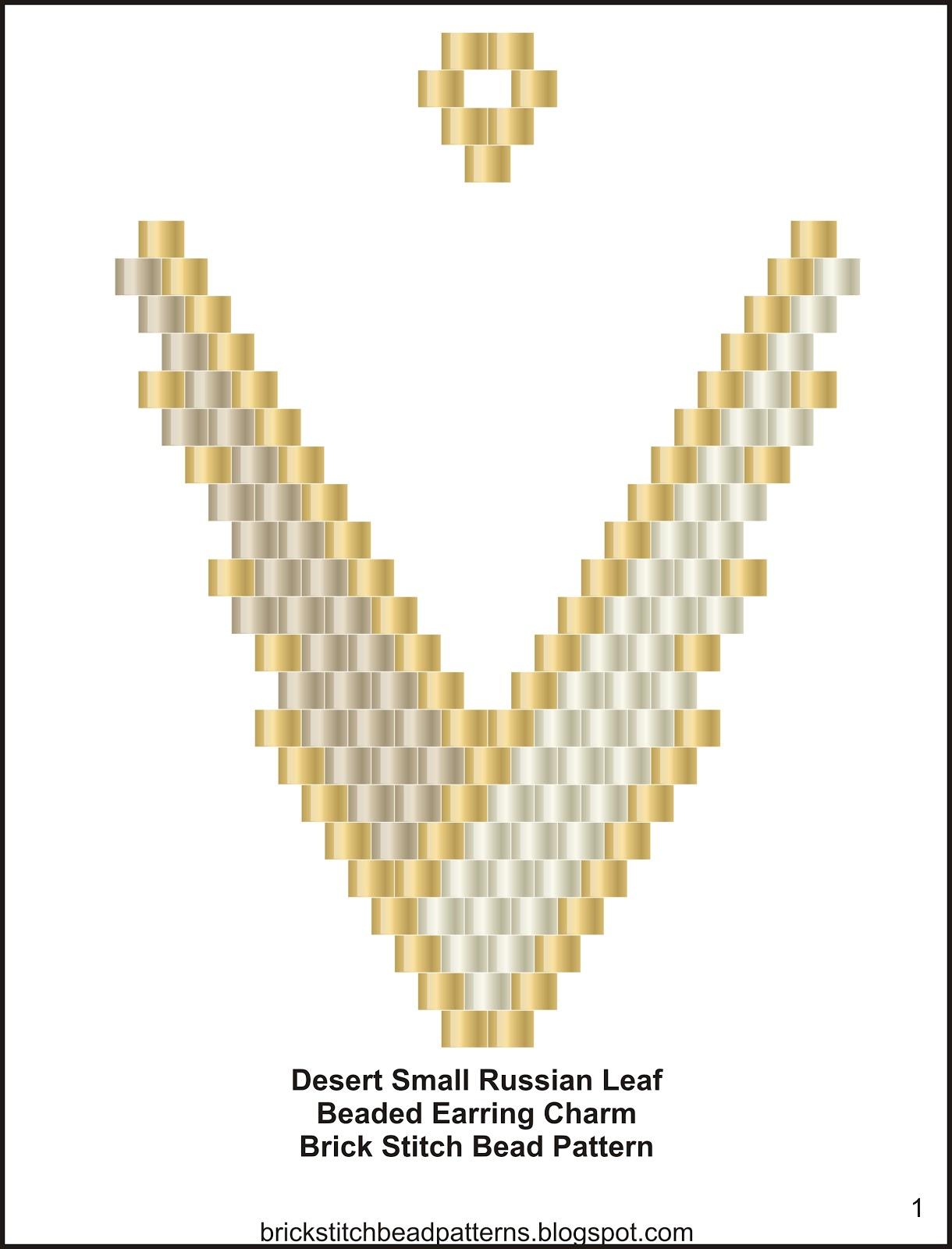 Brick Stitch Bead Patterns Journal: Free Desert Small ...