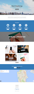 Stylish Portfolio One Page Bootstrap