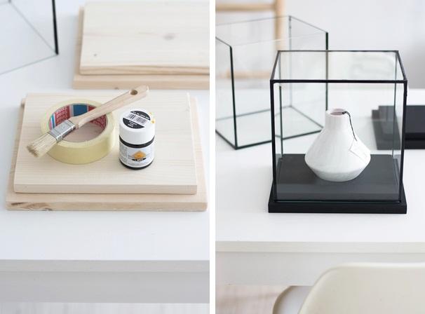 DIY Glasvitrine mit Holzsockel