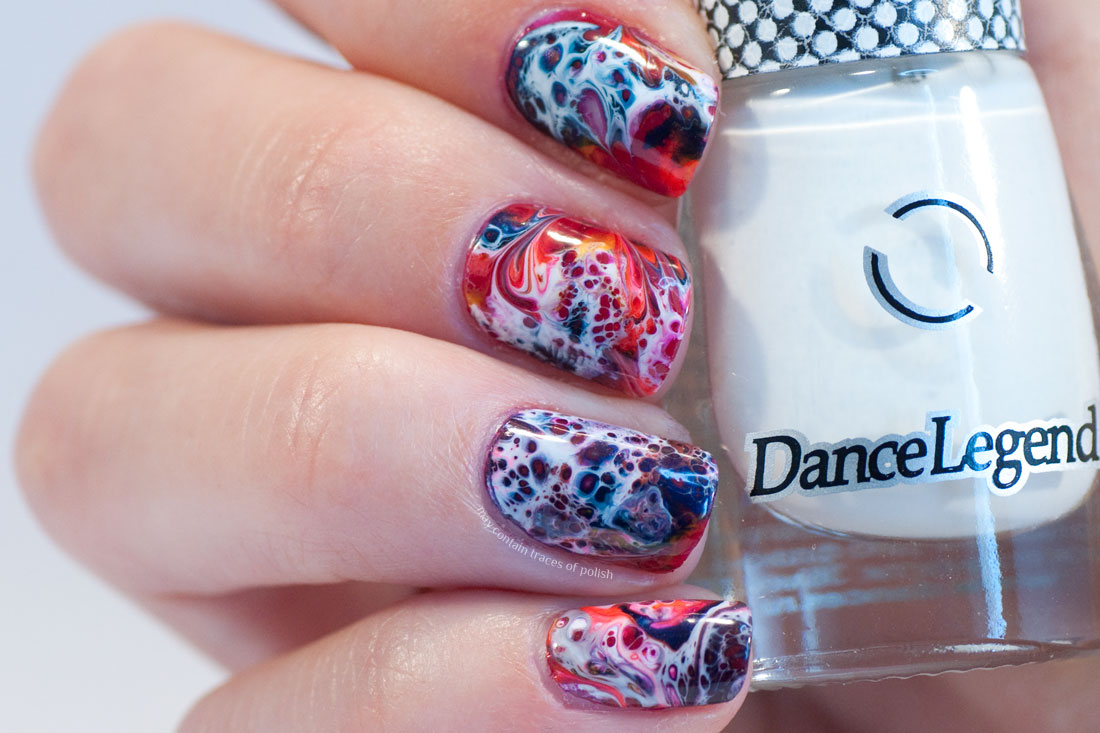 Dance Legend Spot It White Swirly manicure
