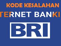 Arti Kode Kesalahan Internet Banking BRI Dan Solusinya