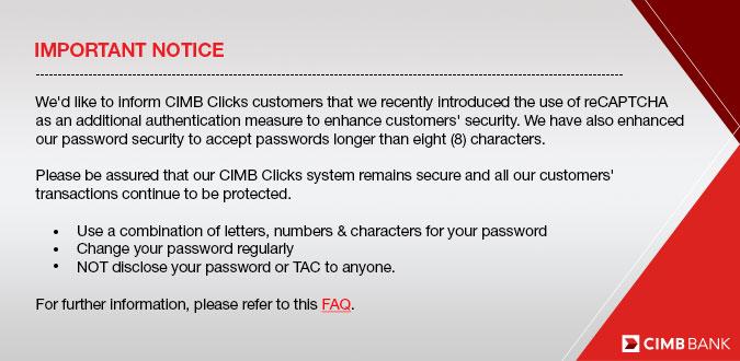 Cara Reset Dan Tukar Password Akaun CIMB Clicks